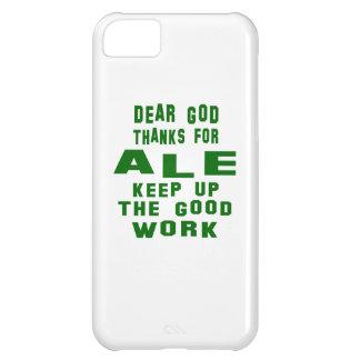 Estimadas gracias de dios por la cerveza inglesa funda para iPhone 5C