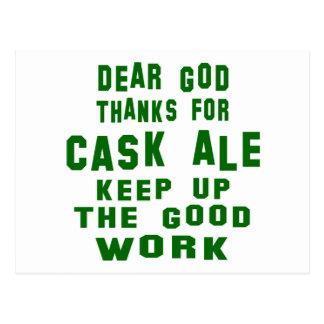 Estimadas gracias de dios por la cerveza inglesa postal