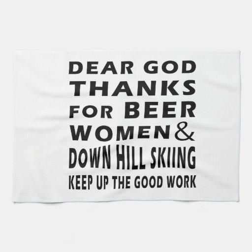 Estimadas gracias de dios por las mujeres y abajo  toallas de cocina