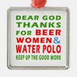 Estimadas gracias de dios por mujeres de la cervez adorno de navidad