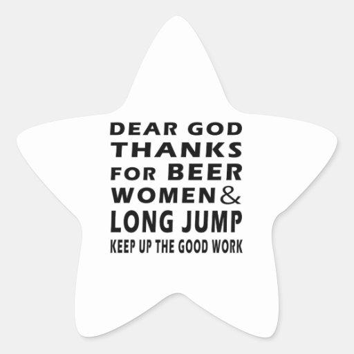 Estimadas gracias de dios por mujeres de la cervez calcomanías forma de estrellaes
