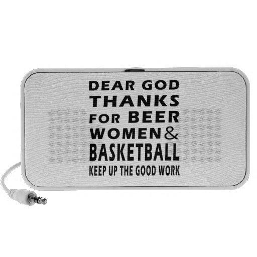 Estimadas gracias de dios por mujeres y baloncesto portátil altavoces