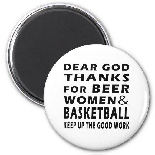Estimadas gracias de dios por mujeres y baloncesto imanes para frigoríficos
