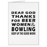 Estimadas gracias de dios por mujeres y bolos de l tarjetas