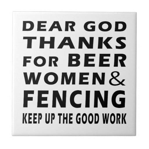 Estimadas gracias de dios por mujeres y el cercado azulejo cuadrado pequeño