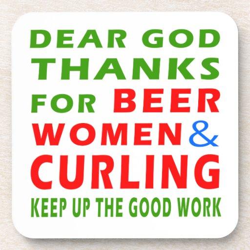Estimadas gracias de dios por mujeres y encrespars posavasos