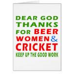 Estimadas gracias de dios por mujeres y grillo de  tarjeton