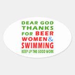 Estimadas gracias de dios por mujeres y la pegatina ovalada