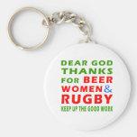 Estimadas gracias de dios por mujeres y rugbi de l llavero