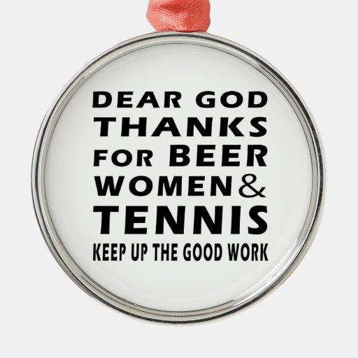 Estimadas gracias de dios por mujeres y tenis de l ornamentos de navidad