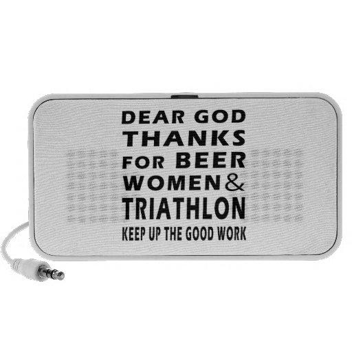 Estimadas gracias de dios por mujeres y Triathlon  Portátil Altavoces