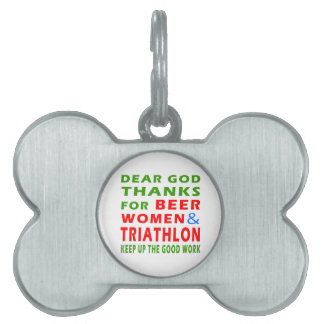 Estimadas gracias de dios por mujeres y Triathlon Placa Mascota