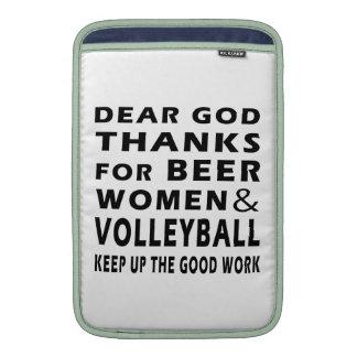 Estimadas gracias de dios por mujeres y voleibol d funda macbook air