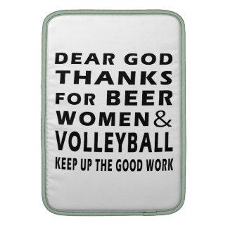 Estimadas gracias de dios por mujeres y voleibol d fundas macbook air