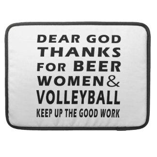 Estimadas gracias de dios por mujeres y voleibol d funda macbook pro