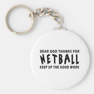 Estimadas gracias de dios por Netball Llavero Redondo Tipo Pin