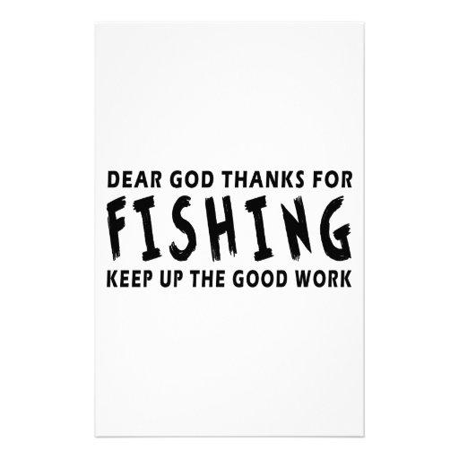 Estimadas gracias de dios por pescar papelería