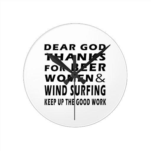Estimadas gracias de dios por practicar surf de la reloj redondo mediano