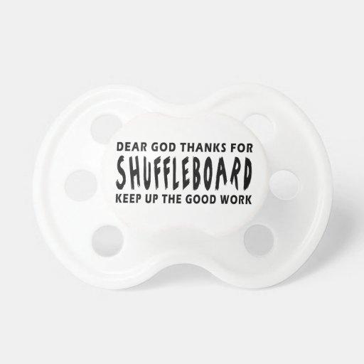 Estimadas gracias de dios por Shuffleboard Chupetes De Bebé