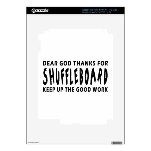 Estimadas gracias de dios por Shuffleboard Pegatinas Skins Para iPad 3
