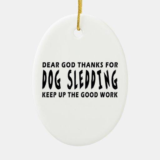 Estimadas gracias de dios por Sledding del perro Adornos De Navidad