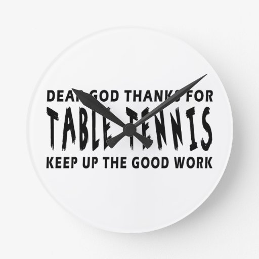 Estimadas gracias de dios por tenis de mesa reloj