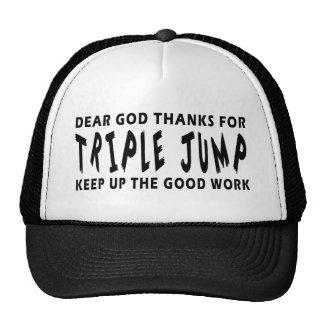 Estimadas gracias de dios por triple salto gorro de camionero