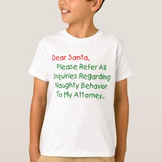 Estimado abogado de Santa - letra divertida del Playera