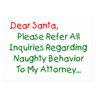 Estimado abogado de Santa Postal