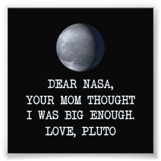 Estimado amor Plutón de la NASA Fotografía