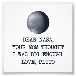 Estimado amor Plutón de la NASA Arte Fotografico