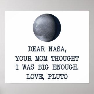 Estimado amor Plutón de la NASA Póster