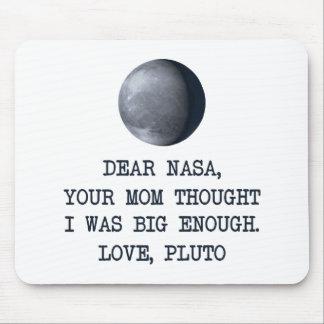 Estimado amor Plutón de la NASA Alfombrillas De Ratones