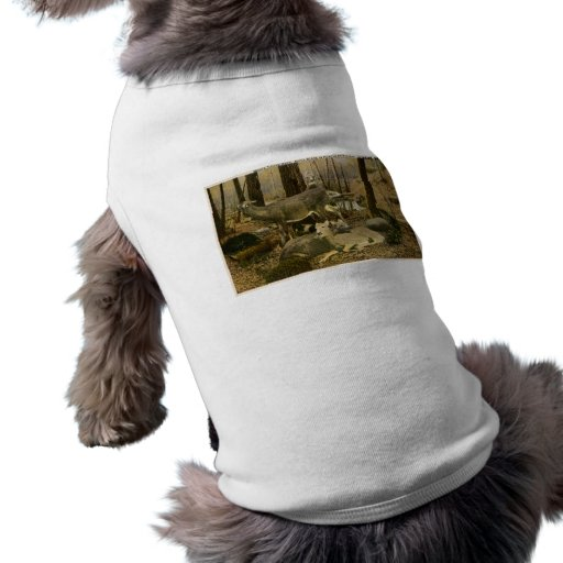 Estimado atado blanco en Michigan septentrional Camisa De Mascota