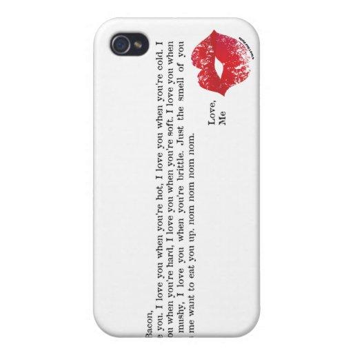 Estimado Bacon iPhone 4 Coberturas