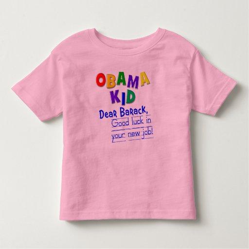 ¡Estimado Barack, buena suerte en su nuevo Playera