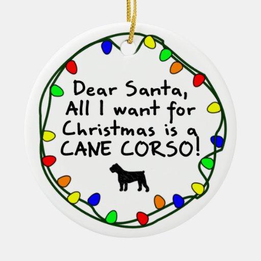 Estimado bastón Corso de Santa Adornos De Navidad