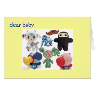 estimado bebé tarjeta de felicitación