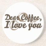 Estimado café TE AMO Posavasos Personalizados