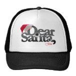 Estimado desgaste de Santa esto a cualquier letra  Gorras