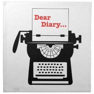 Estimado Diary Servilleta Imprimida