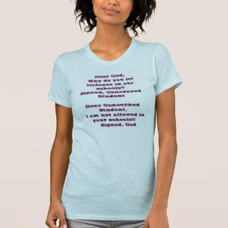 Estimado dios, porqué lo hace usted dejó violencia camisetas