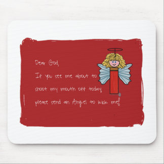 Estimado dios, ratón-cojín del ángel tapetes de ratón