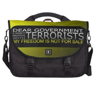 Estimado gobierno: No negocio con los terroristas Bolsas Para Portátil