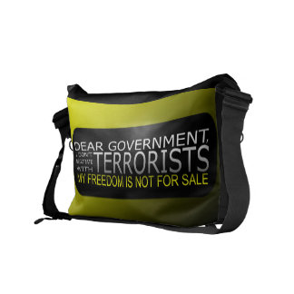Estimado gobierno: No negocio con los terroristas Bolsas De Mensajeria