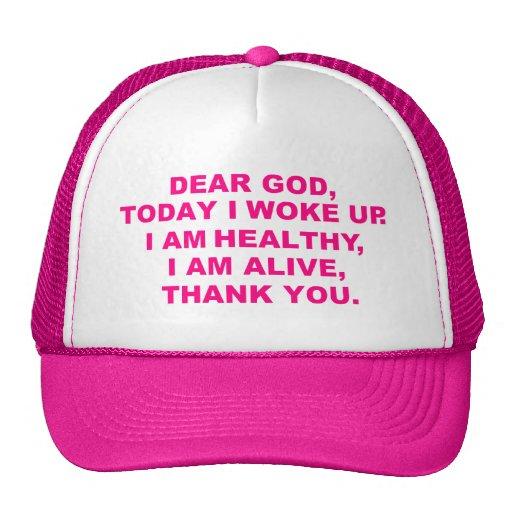 Estimado gorra para mujer de dios