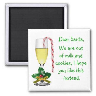 Estimado imán del navidad de Santa