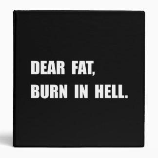 "Estimado infierno gordo de la quemadura carpeta 1 1/2"""