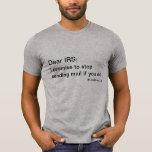 Estimado IRS: camiseta del #letsbreakup