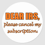 Estimado IRS Etiquetas Redondas